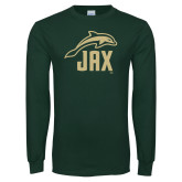Dark Green Long Sleeve T Shirt-Dolphin JAX