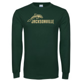 Dark Green Long Sleeve T Shirt-Dolphin Jacksonville