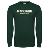 Dark Green Long Sleeve T Shirt-Athletics