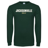 Dark Green Long Sleeve T Shirt-Golf