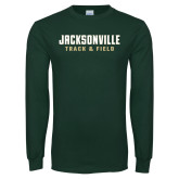 Dark Green Long Sleeve T Shirt-Track and Field