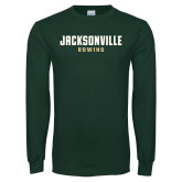 Dark Green Long Sleeve T Shirt-Rowing