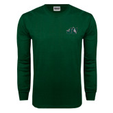 Dark Green Long Sleeve T Shirt-Official Logo