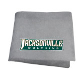 Grey Sweatshirt Blanket-Jacksonville Dolphins Word Mark