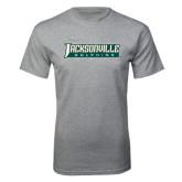 Grey T Shirt-Jacksonville Dolphins Word Mark