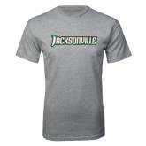 Grey T Shirt-Jacksonville Word Mark