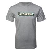 Grey T Shirt-Jacksonville Word Mark