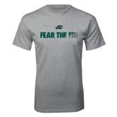 Grey T Shirt-Fear the Fin