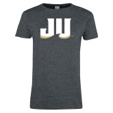 Ladies Dark Heather T Shirt-JU