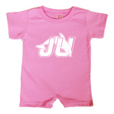 Bubble Gum Pink Infant Romper-Official Logo
