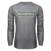 Grey Long Sleeve T Shirt-Jacksonville Word Mark
