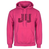 Fuchsia Fleece Hoodie-JU Hot Pink Glitter