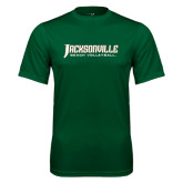 Performance Dark Green Tee-Beach Volleyball