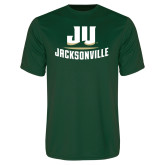 Performance Dark Green Tee-Primary Logo