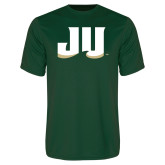 Performance Dark Green Tee-JU