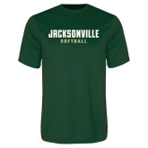 Performance Dark Green Tee-Softball