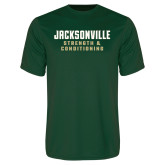 Performance Dark Green Tee-Strenght and Conditioning