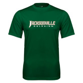 Performance Dark Green Tee-Jacksonville Dolphins Word Mark