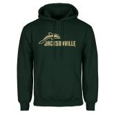 Dark Green Fleece Hood-Dolphin Jacksonville