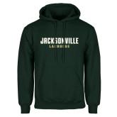 Dark Green Fleece Hood-Lacrosse