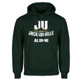 Dark Green Fleece Hood-Alumni