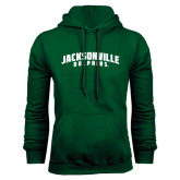 Dark Green Fleece Hood-Jacksonville Dolphins Arched