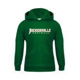Youth Dark Green Fleece Hood-Football