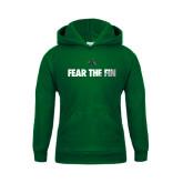Youth Dark Green Fleece Hood-Fear the Fin