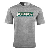 Performance Grey Heather Contender Tee-Jacksonville Dolphins Word Mark