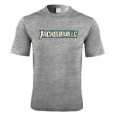 Performance Grey Heather Contender Tee-Jacksonville Word Mark