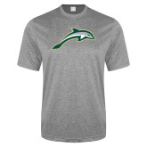 Performance Grey Heather Contender Tee-Dolphin