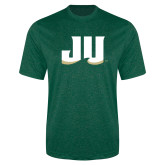 Performance Dark Green Heather Contender Tee-JU