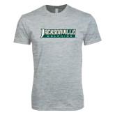 Next Level SoftStyle Heather Grey T Shirt-Jacksonville Dolphins Word Mark