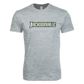 Next Level SoftStyle Heather Grey T Shirt-Jacksonville Word Mark