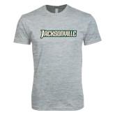 Next Level SoftStyle Heather Grey T Shirt-Jacksonville Word Mark