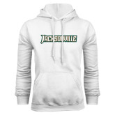 White Fleece Hood-Jacksonville Word Mark
