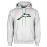 White Fleece Hoodie-Dolphin