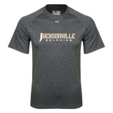 Under Armour Carbon Heather Tech Tee-Jacksonville Dolphins Word Mark
