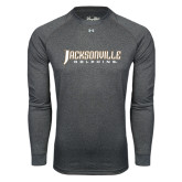 Under Armour Carbon Heather Long Sleeve Tech Tee-Jacksonville Dolphins Word Mark