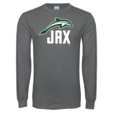 Charcoal Long Sleeve T Shirt-Dolphin JAX