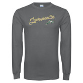Charcoal Long Sleeve T Shirt-Script Jacksonville
