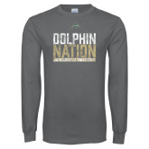 Charcoal Long Sleeve T Shirt-Dolphin Nation
