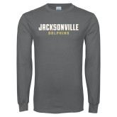 Charcoal Long Sleeve T Shirt-Jacksonville Dolphins