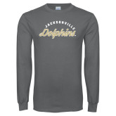 Charcoal Long Sleeve T Shirt-Script