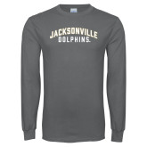 Charcoal Long Sleeve T Shirt-Arched