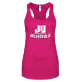 Next Level Ladies Raspberry Ideal Racerback Tank-Primary Logo