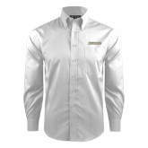 Red House White Dobby Long Sleeve Shirt-Jacksonville Word Mark