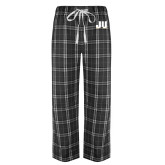 Black/Grey Flannel Pajama Pant-JU