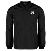 V Neck Black Raglan Windshirt-JU