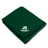 Dark Green Arctic Fleece Blanket-Primary Logo